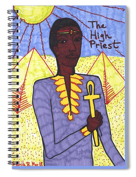 Tarot Of The Younger Self The High Priest Spiral Notebook