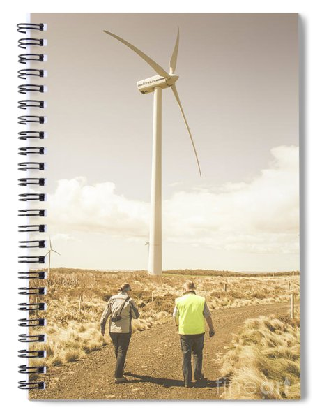 Tasmania Turbine Tours Spiral Notebook
