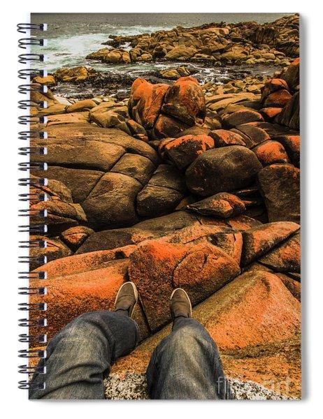 Tasmanian Tourist Kicking Back  Spiral Notebook