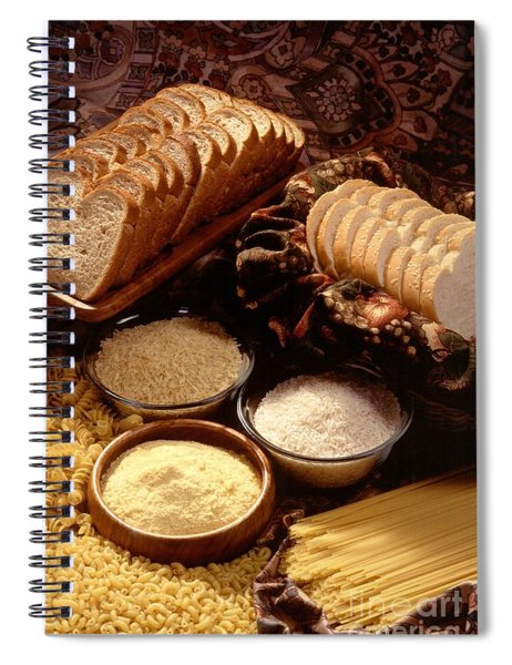 Tasty Bread And Its Ingredients Spiral Notebook