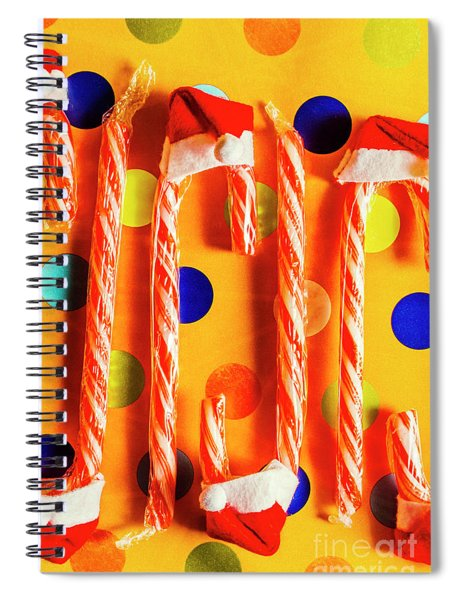 Tasty Candy Cane Sweets Spiral Notebook