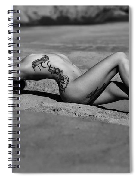 Tattoo Woman On The Beach Spiral Notebook