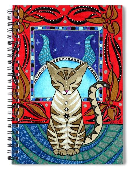 Taurus Cat Zodiac Spiral Notebook
