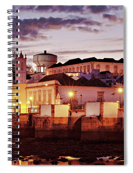 Spiral Notebook featuring the photograph Tavira At Dusk - Portugal by Barry O Carroll