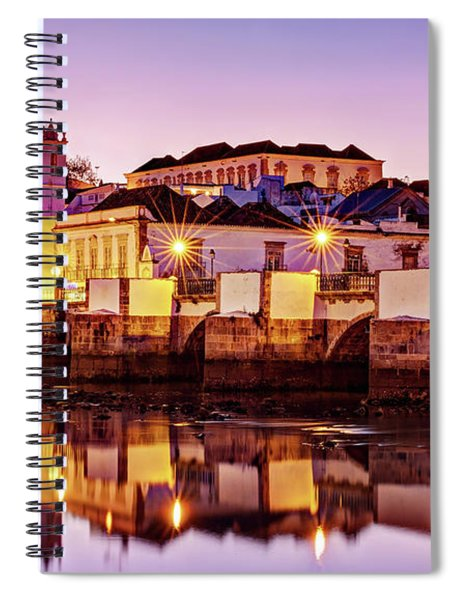 Spiral Notebook featuring the photograph Tavira Reflections - Portugal by Barry O Carroll