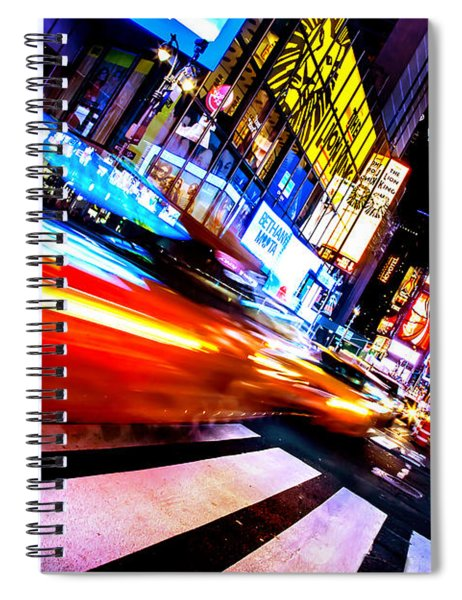 Taxis In Times Square Spiral Notebook