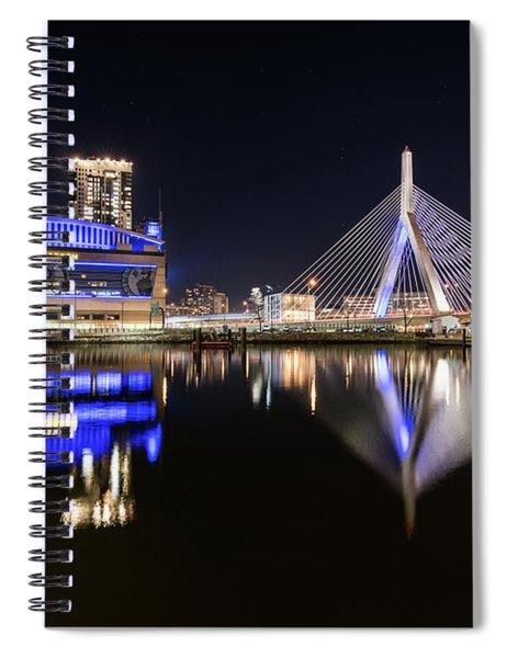 Td Garden And The Zakim Bridge At Night Spiral Notebook