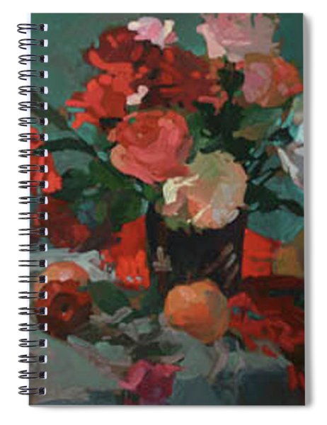 Tea And Peonies Spiral Notebook