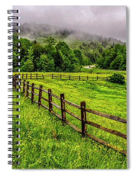 Tea Creek Meadow And Buttercups Spiral Notebook