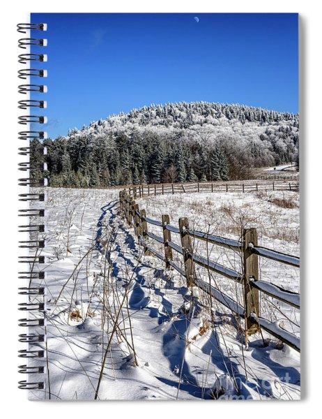Tea Creek Meadow With Moon Spiral Notebook