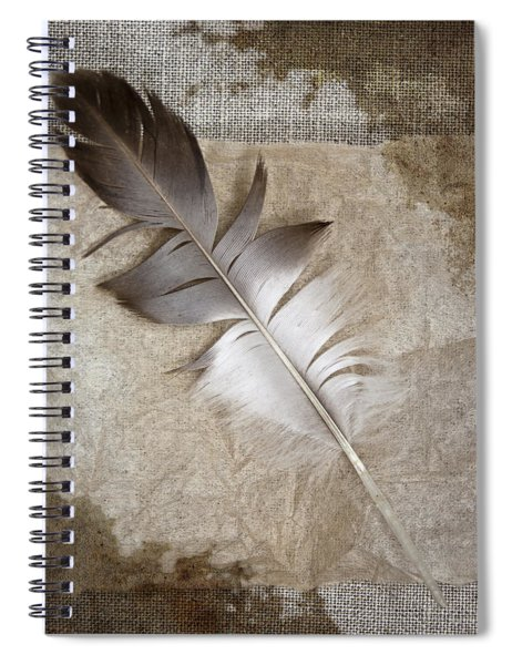 Tea Feather Spiral Notebook