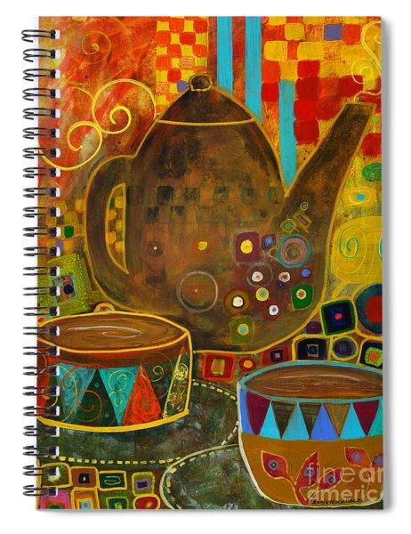 Tea Party With Klimt Spiral Notebook