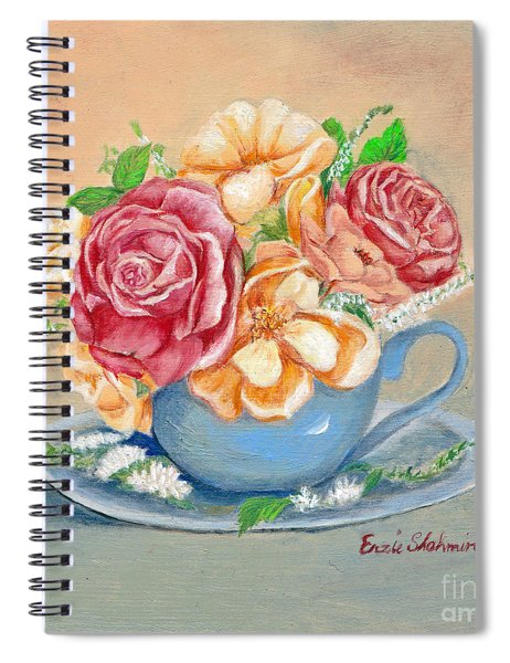 Tea Roses Spiral Notebook