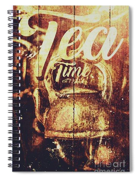 Tea Time Tin Sign Spiral Notebook