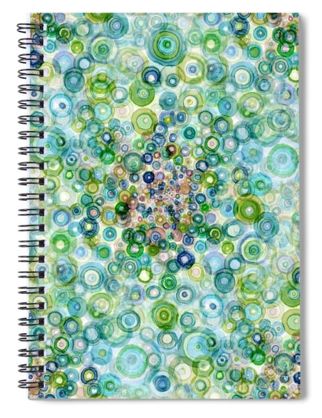 Teal And Olive Concavity Spiral Notebook