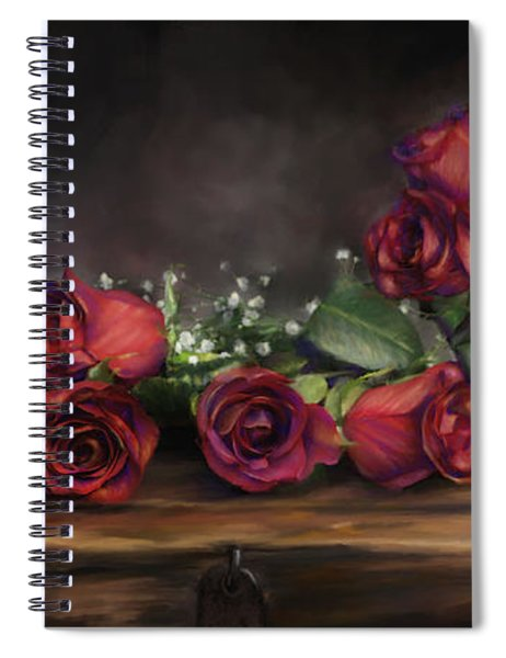 Teapot Roses Spiral Notebook