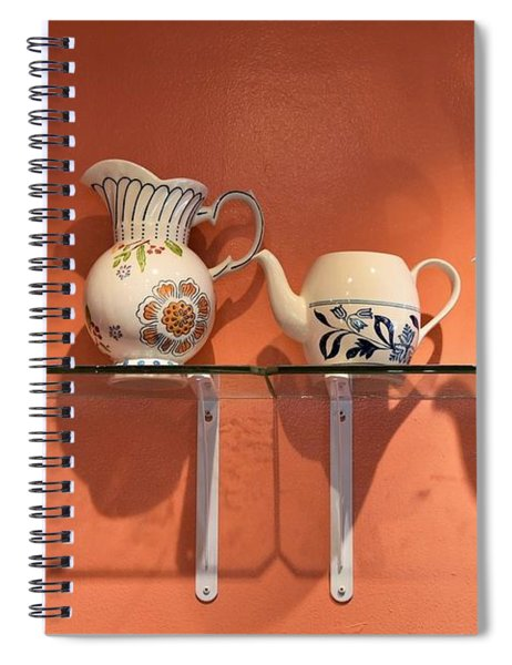 Teapots At Morning Buns Spiral Notebook