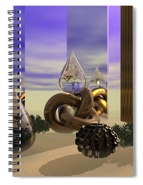 Tears In The Desert Spiral Notebook