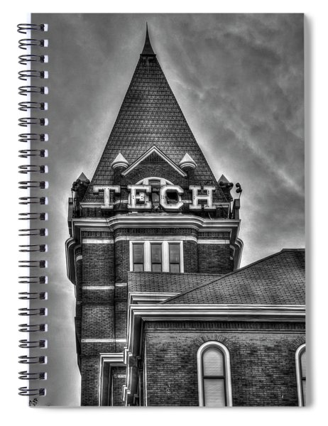 Tech B W Georgia Institute Of Technology Atlanta Georgia Art Spiral Notebook