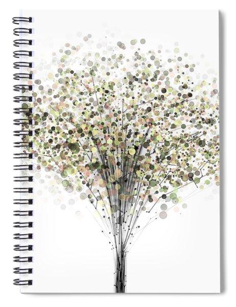technology Abstract Spiral Notebook
