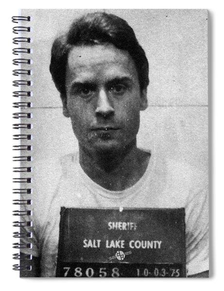 Ted Bundy Mug Shot 1975 Vertical  Spiral Notebook