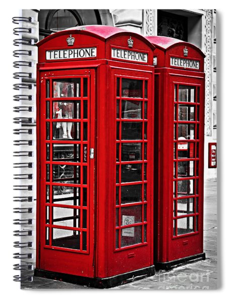 Telephone Boxes In London Spiral Notebook