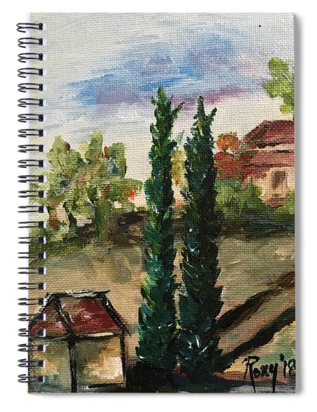 Temecula Cyprus Trees Spiral Notebook