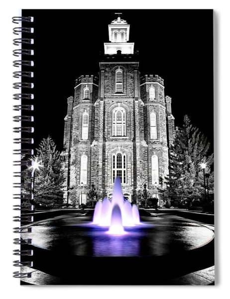 Temple Fountain  Spiral Notebook