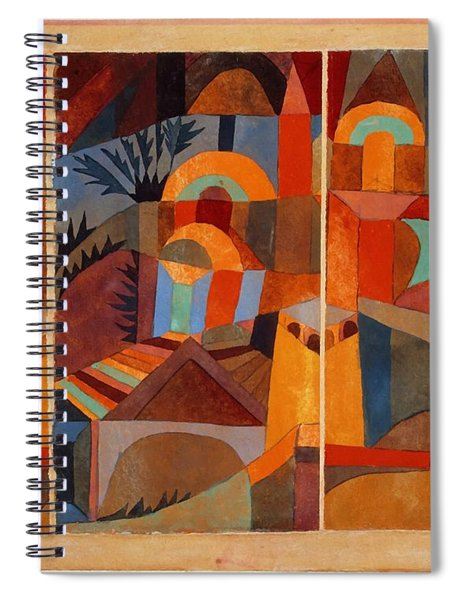 Temple Gardens Spiral Notebook