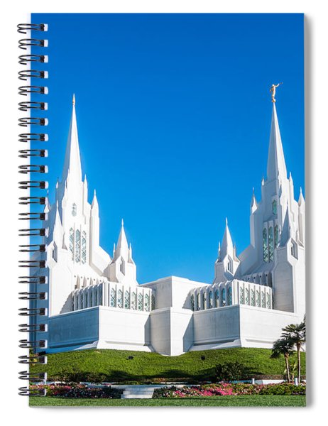 Spiral Notebook featuring the photograph Temple Glow by Patti Deters