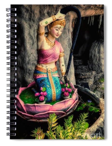 Temple Lady Statue Spiral Notebook