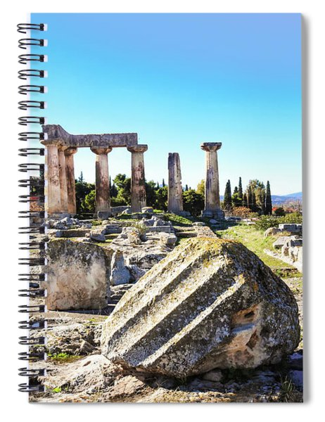 Temple Of Apollo In Ancient Corinth Spiral Notebook