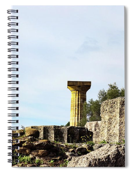 Temple Of Zeus In At Ancient Corinth In Greece Spiral Notebook