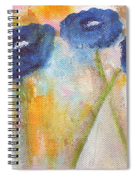 Temporary Crossroads- Floral Art By Linda Woods Spiral Notebook