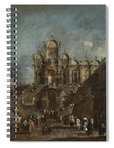 Temporary Tribune In The Campo San Zanipolo - Venice Spiral Notebook