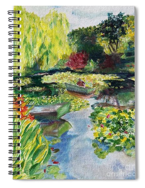 Tending The Pond Spiral Notebook
