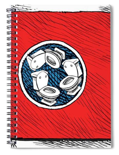 Tennessee Bathroom Flag Spiral Notebook