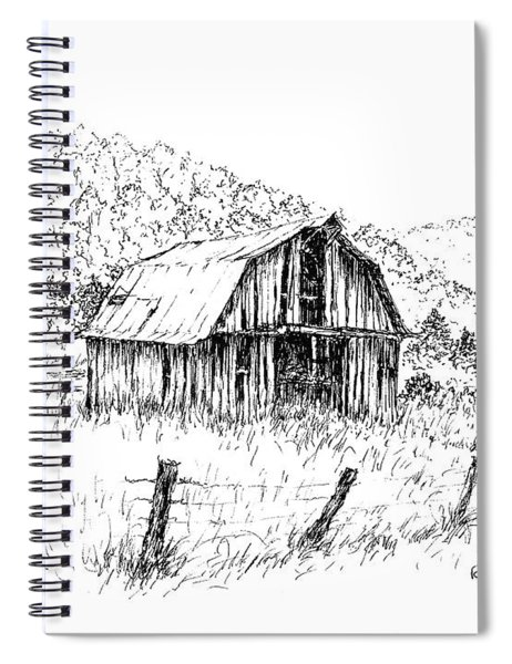 Tennessee Hills With Barn Spiral Notebook