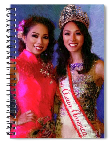 Teresa Hoang And Miss Asian America 2016 Jessica Lim Spiral Notebook