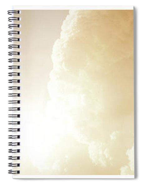 Tern In Flight, Spiritual Light Of Dusk Spiral Notebook