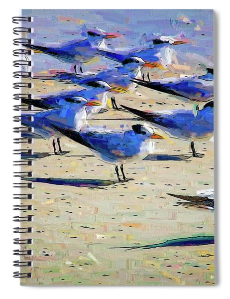 Terns On The Beach Spiral Notebook