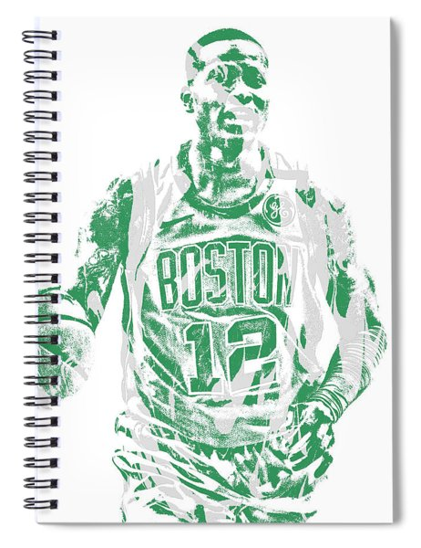 Terry Rozier Boston Celtics Pixel Art 11 Spiral Notebook