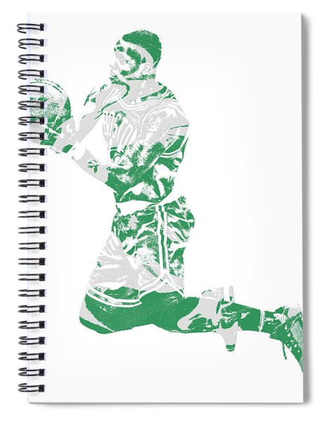 Terry Rozier Boston Celtics Pixel Art 12 Spiral Notebook