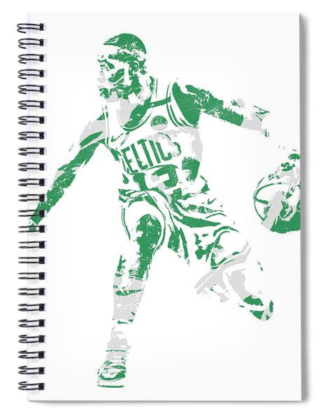 Terry Rozier Boston Celtics Pixel Art 13 Spiral Notebook