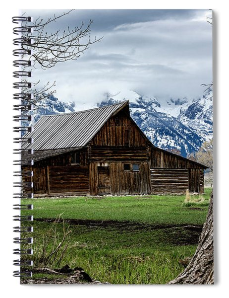 Spiral Notebook featuring the photograph Teton Barn #1 by Scott Read