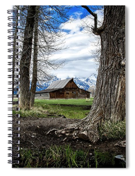 View From Mormon Row Spiral Notebook by Scott Read