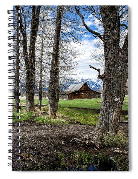 Moulton Barn On Mormon Row Spiral Notebook by Scott Read