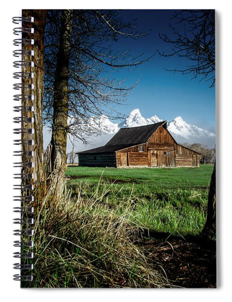 Spiral Notebook featuring the photograph Tetons And Moulton Barn by Scott Read