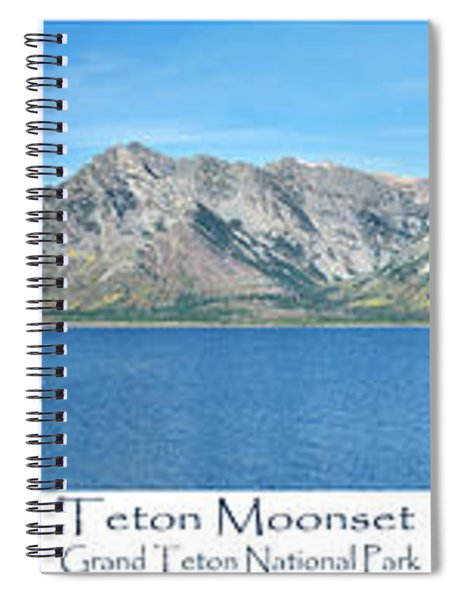 Teton Moonset Spiral Notebook