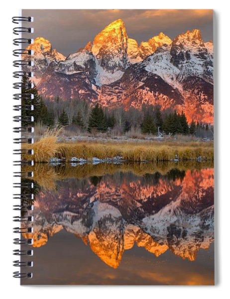 Teton Mountains Sunrise Rainbow Spiral Notebook
